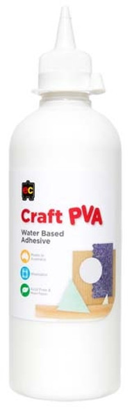 Educational Colours Craft PVA Glue 500ml