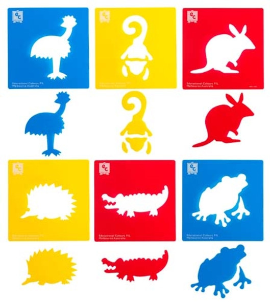 Educational Colours Australian Animals Series #2 Stencil Set 6