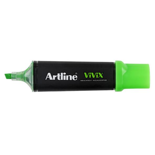 Artline Vivix Highlighter Green Pack 10