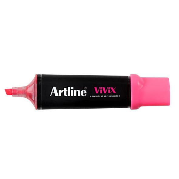 Artline Vivix Highlighter Pink Pack 10