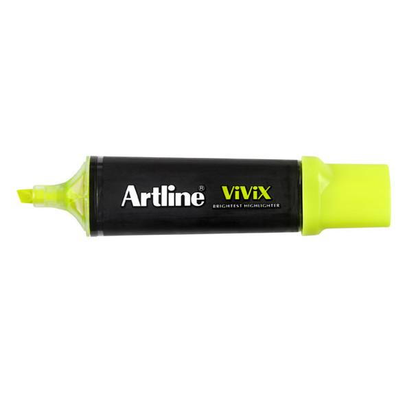 Artline Vivix Highlighter Yellow Pack 10