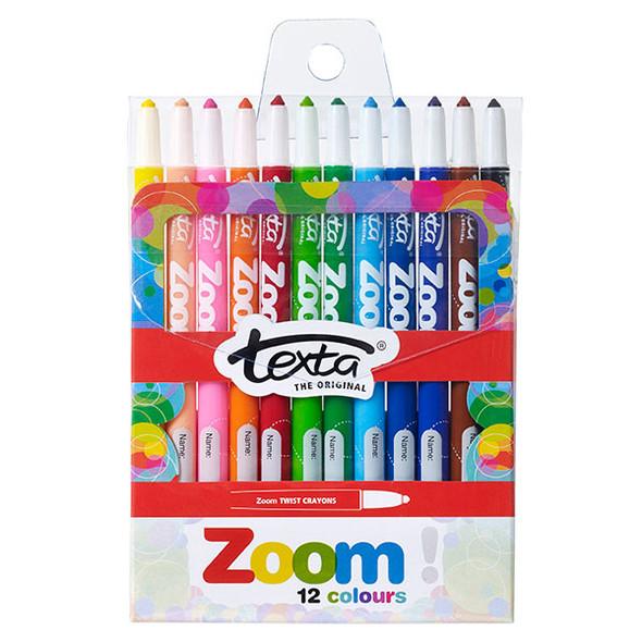 Texta Zoom Twist Crayons Pack 12