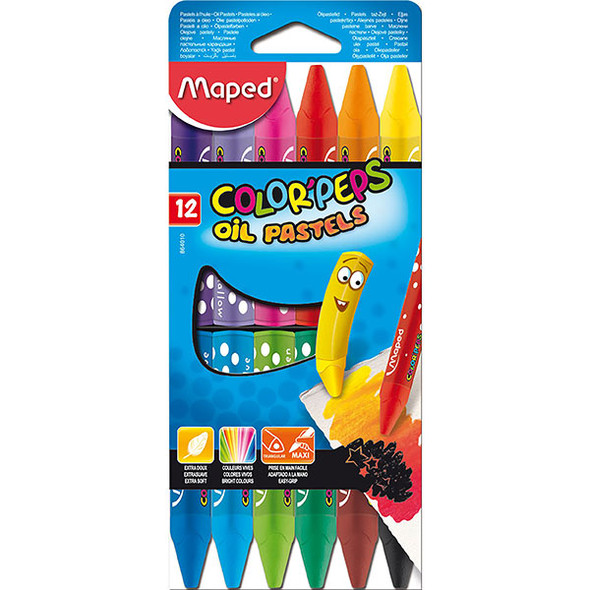 Maped Colour Peps Oil Pastel Pack 12