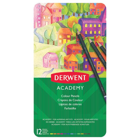 Derwent Academy Coloured Pencils Tin 12