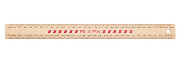 Celco Wooden Ruler Double Sided Polished 30cm
