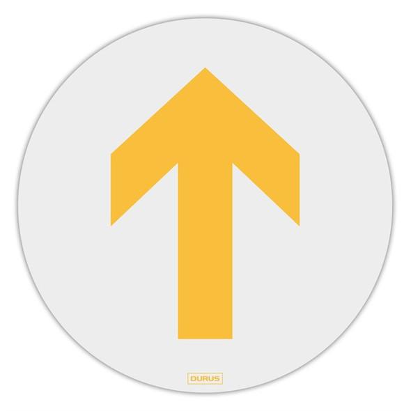 Durus Floor Adhesive Sign Arrow Yellow 250mm
