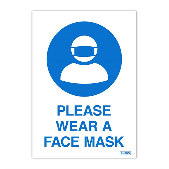 Durus Self Adhesive Decal Wear Face Mask Pack 2
