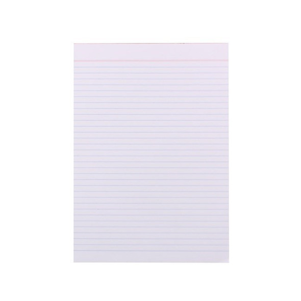 Quill Quill Super Bank Ruled Pad 60gsm A4 80 Leaf - White