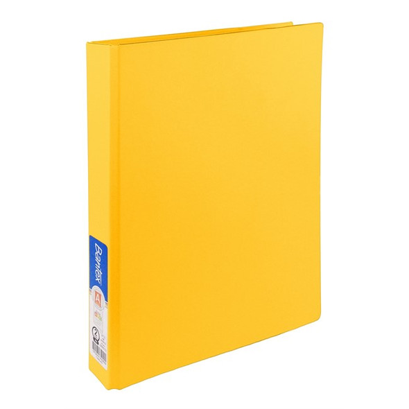 Bantex Ring Binder Standard PP A4 2D Ring 25mm - Yellow