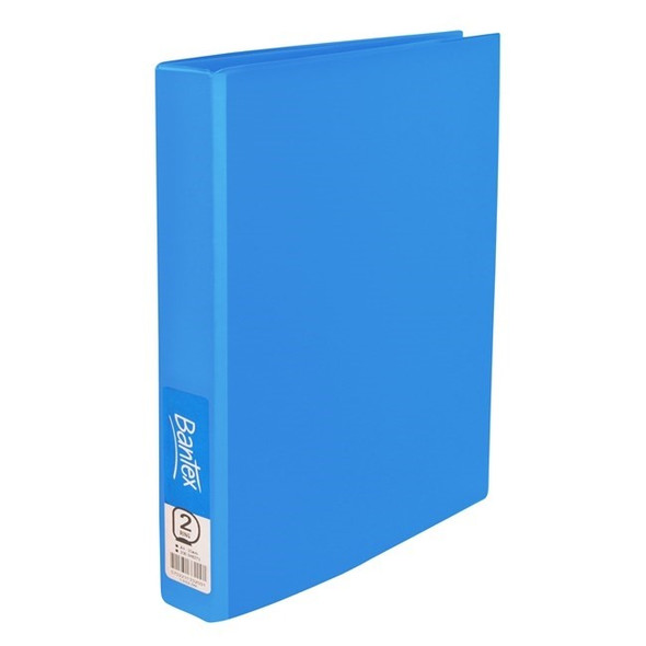 Bantex Ring Binder Standard PP A4 2D Ring 25mm - Blueberry