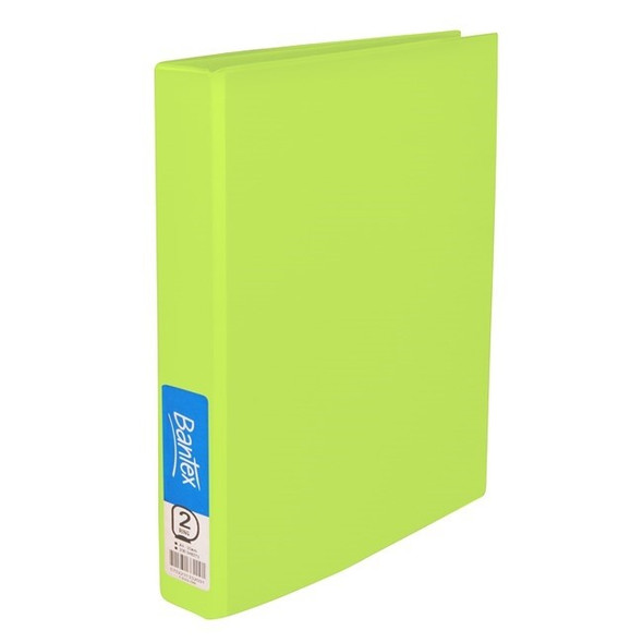 Bantex Ring Binder Standard PP A4 2D Ring 25mm - Lime