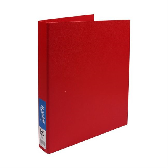 Bantex Ring Binder Standard PP A4 4D Ring 25mm - Red