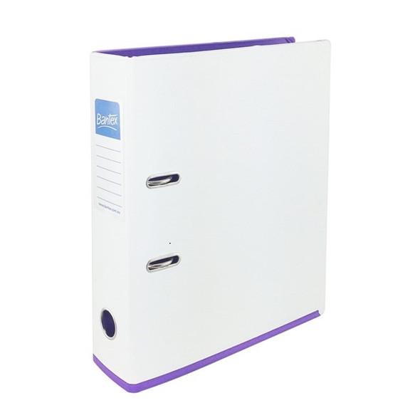 Bantex Lever Arch File A4 70mm 2 Tone - White & Lilac