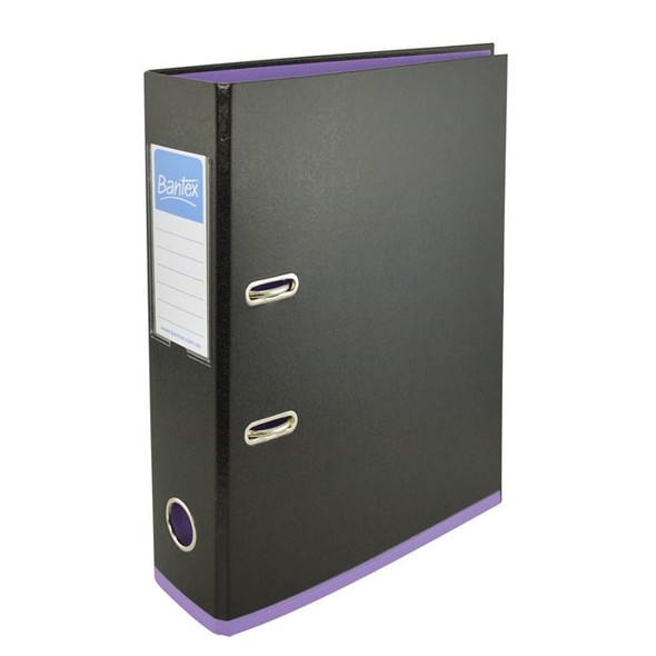 Bantex Lever Arch File A4 70mm 2 Tone - Black & Lilac