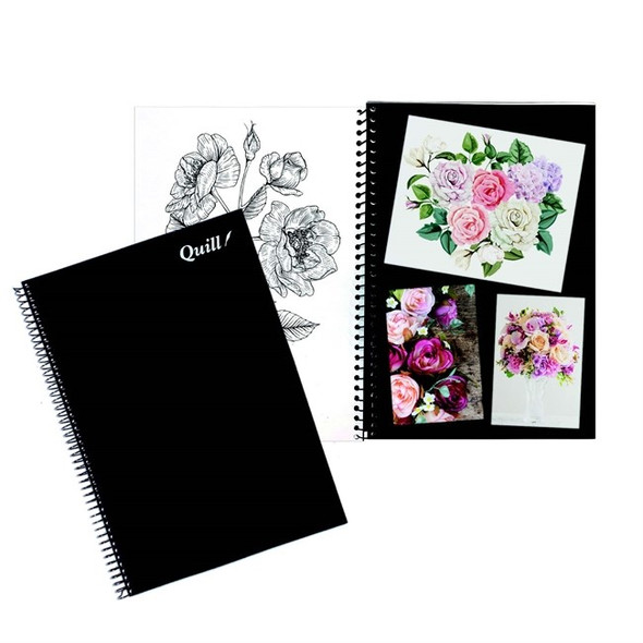 Quill Visual Art Diary PP A4 120 Pages - Black and White