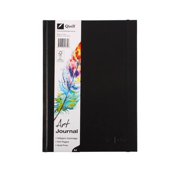Quill Art Journal Case Bound 125gsm 60 Leaf A4 Black