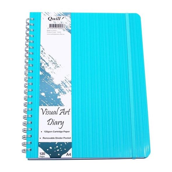 Premium PP Visual Art Diary A4 120pg 125gsm - Aqua