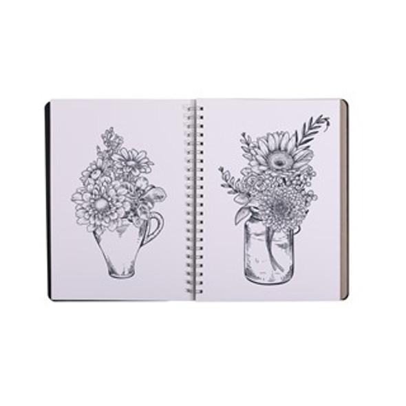 Premium PP Visual Art Diary A4 120pg 125gsm - Black