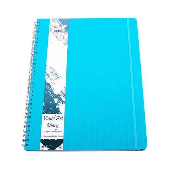 Premium PP Visual Art Diary A3 120pg 125gsm - Aqua