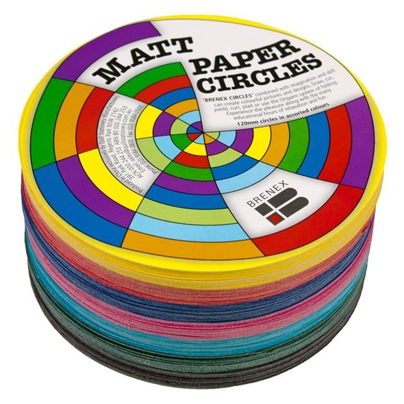 Brenex Matt Circles 180mm Diameter Double sided - Assorted 500 sheets
