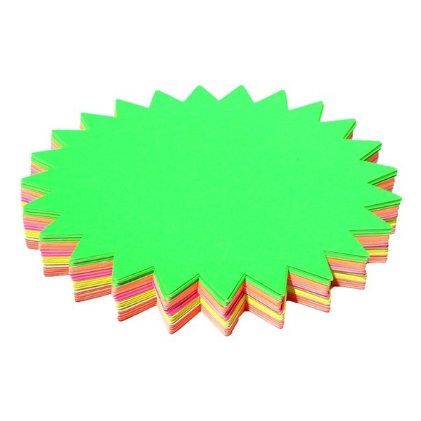 Brenex Fluoro Starburst 205mm Diameter 60 Sheets Single Sided Assorted Colours