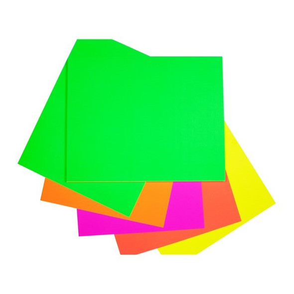 Quill Board Fluoro 230gsm 510mm X 635mm Pack 100 - Assorted