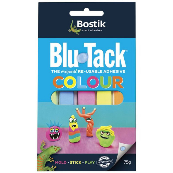 Bostik Blu Tack Adhesive Colour 75g