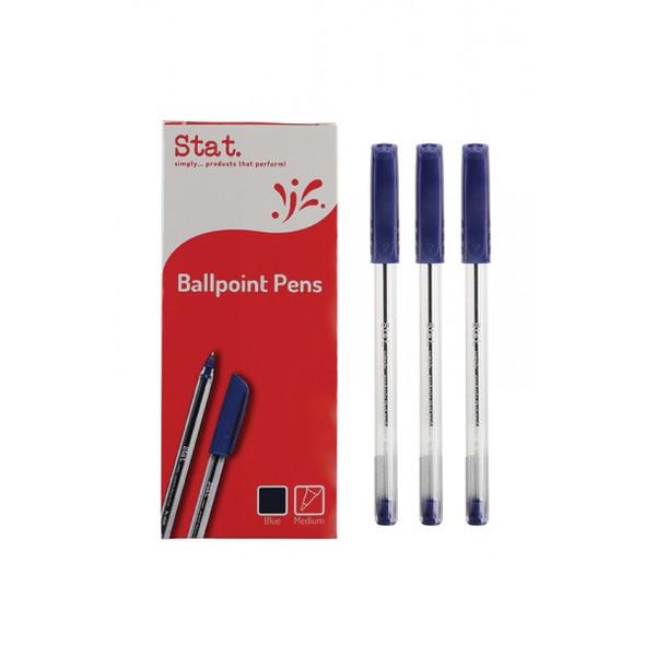 Pen STAT 1.0mm Ballpoint Medium Blue Box 12