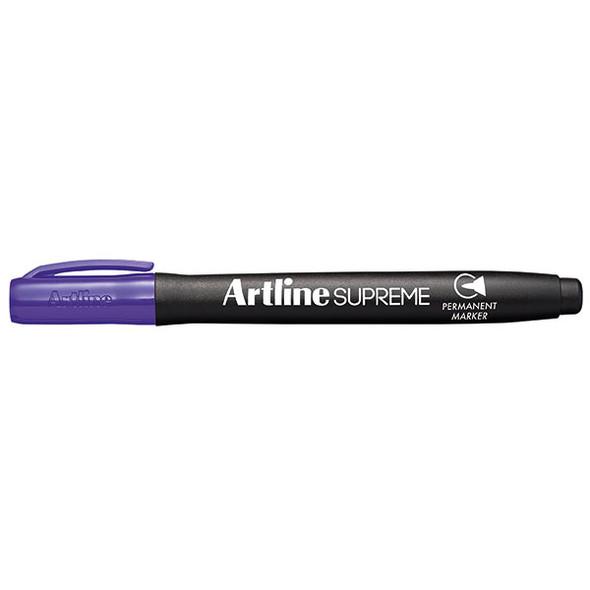 Artline 107106 Supreme Permanent Marker Purple Box 12