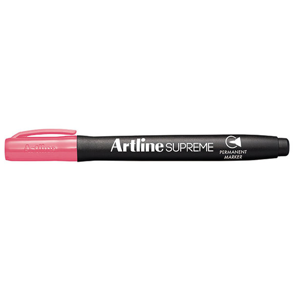 Artline 107109 Supreme Permanent Marker Pink Box 12