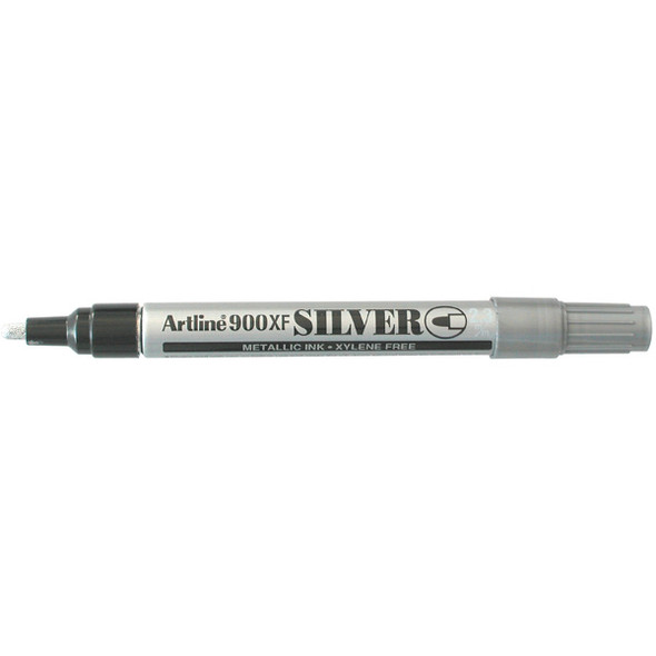 Artline 900 Metallic Permanent Marker 2.3mm Bulletin Nib Silver