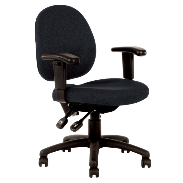 YS Design YS21B Office Chair With Arms Black