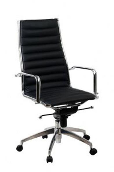 Lean Hi Back Chair Black - 10 Year Warranty