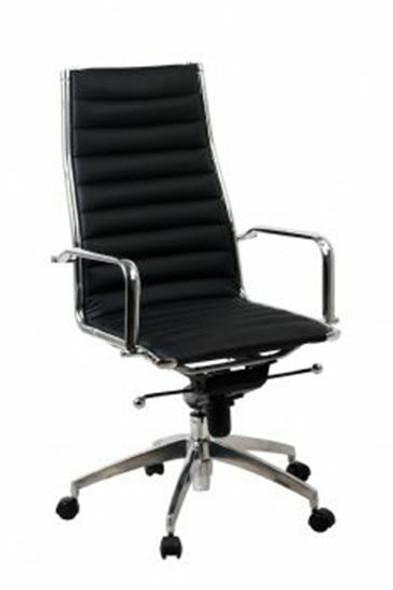Lean Mid Back Chair Black