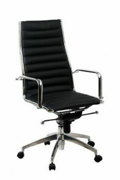 Lean Visitors Chair Synthetic Leather Black