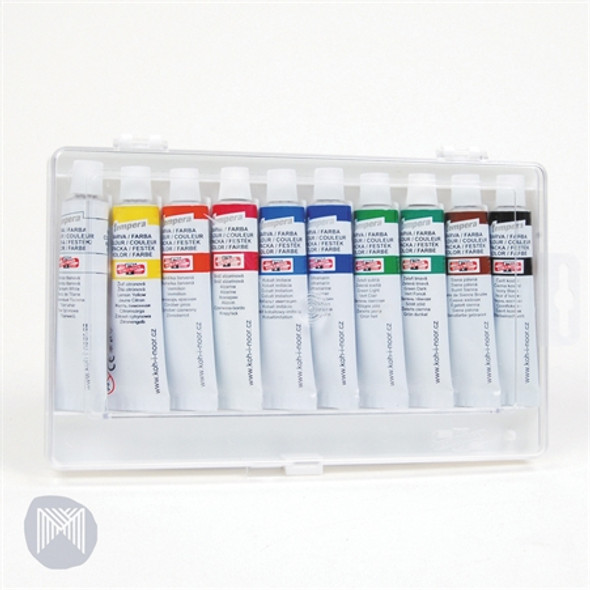 Tempera Paint Koh-I-Noor 16ml 10 Assorted Colours