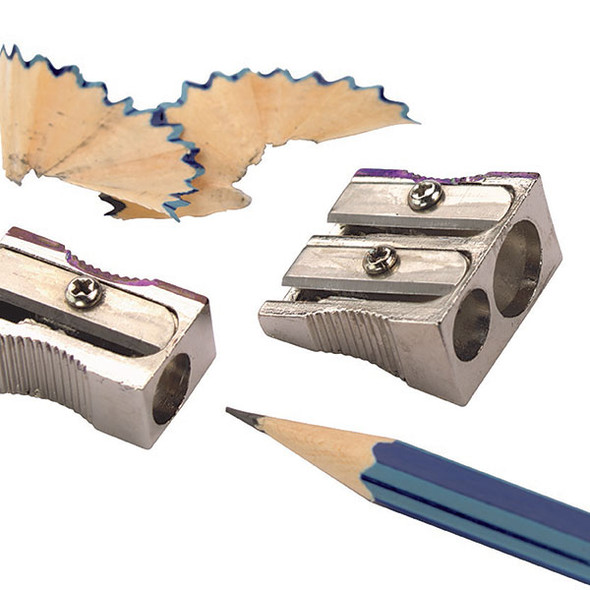 Marbig Pencil Sharpener Metal 1 Hole Silver