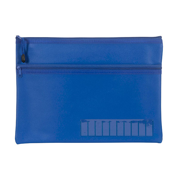 Celco Pencil Case Name Blue Large 2 Zip 350MMX180mm