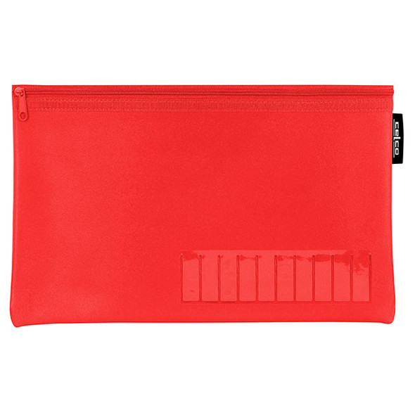Celco Pencil Case Name Red Small 1 Zip 225mmx140mm