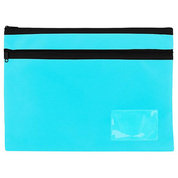Celco Pencil Case Marine Blue Black 2 Zip Large 345x260mm