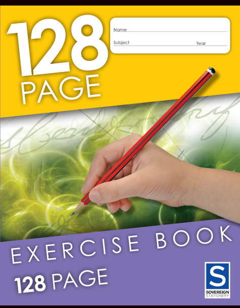 Exercise Book Sovereign 225x175mm 8mm Ruled 128pg