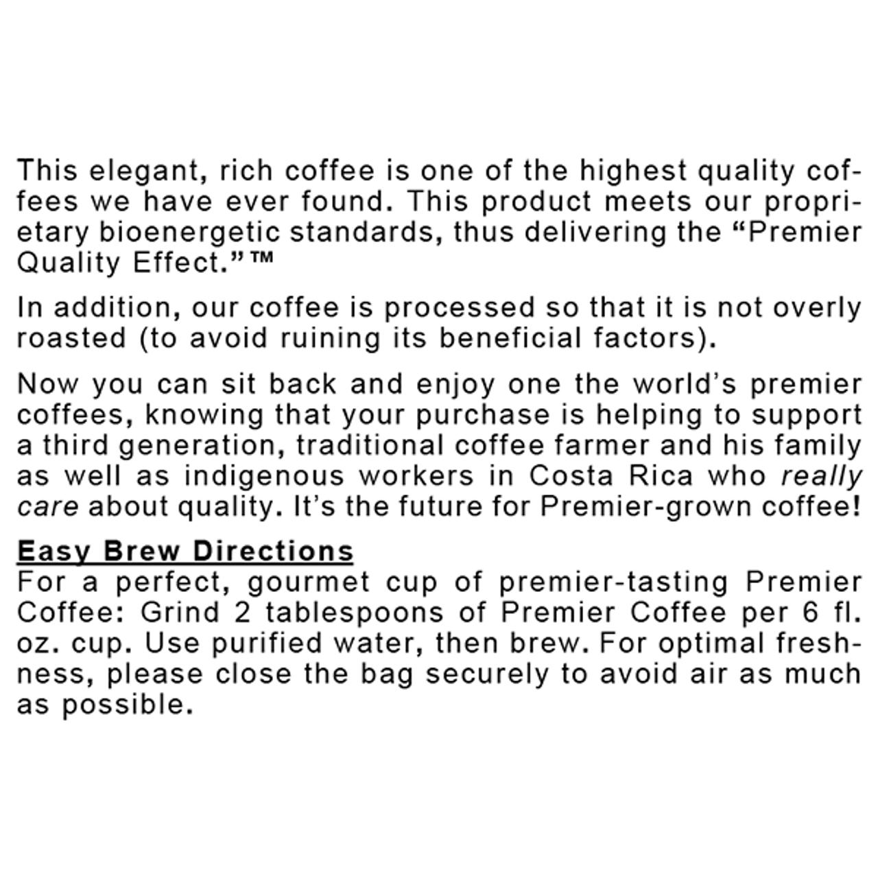 Coffee, Premier