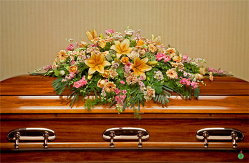 Heavenly Blooms Casket Spray