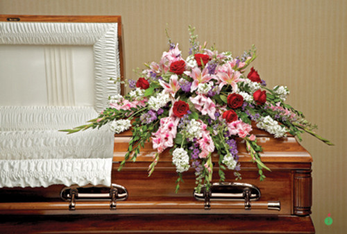 Perfect Pastoral Casket Spray