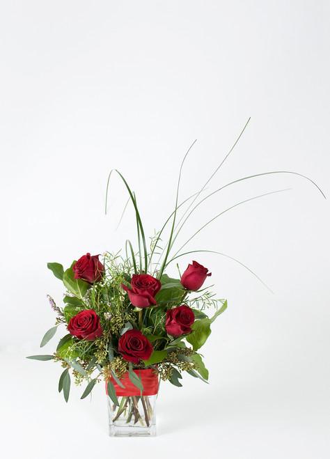 Half dozen premium roses