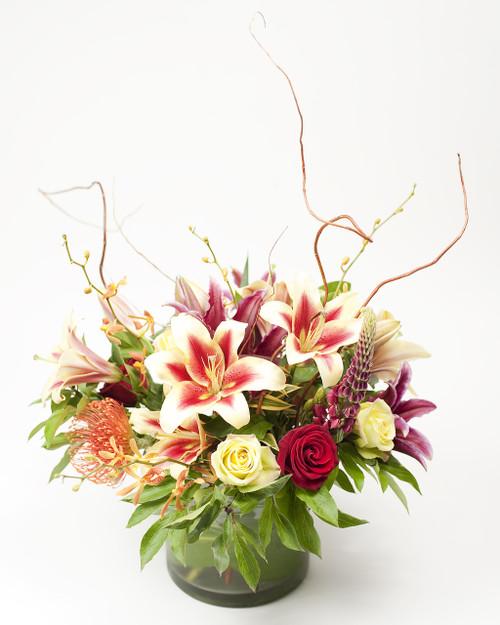 Stargazer lily bowl