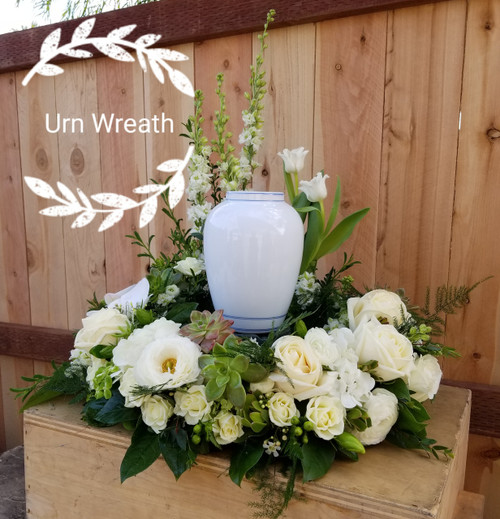Surrounded in Beauty Urn Wreath