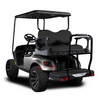 Genesis 300 Aluminum Golf Cart Rear Seat Kit with Black Cushion Set For EZGO TXT
