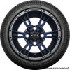 """12"""" Wicked 57 Series Street Satin Black with Navy Set of 4"""