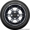 """12"""" Wicked 57 Series Street Satin Black with Silver Set of 4"""